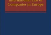 "Novedad editorial: ""The Private International Law of Companies in Europe"""